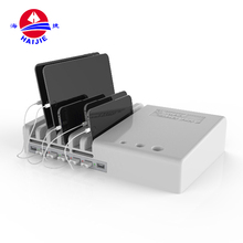 Multifunction 5port multi mobile phone usb charging station with stand storage