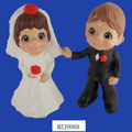 Popular Ceramic Children Bride & Groom Wedding Statues