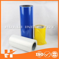 Transparent color PE protective film self adhesive