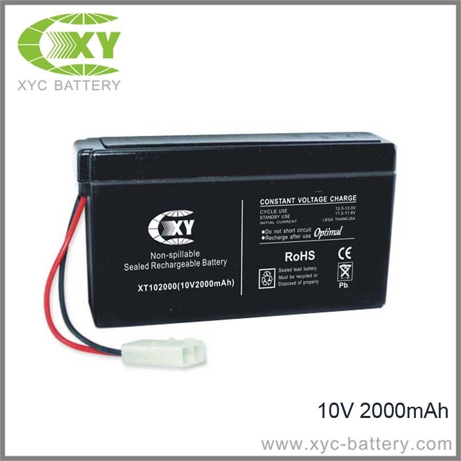 10V 2000mAh Rechargeable Batteries for toy