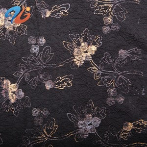 Gold Foil Print Fabric for garment