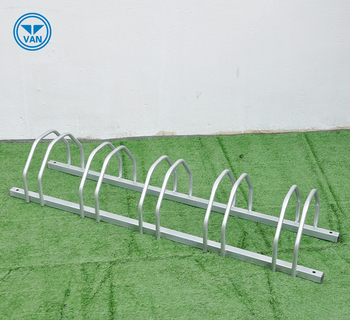Ground loop 5 bike floor mount bike rack