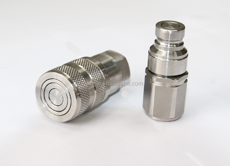 SS316 shut-off hydraulic quick fitting