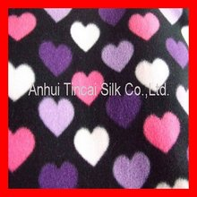 Printed Heart Polar Fleece Fabric