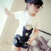 Comfy Cute Cartoon Cheap T Shirt Printed White Tee Shirts for Children