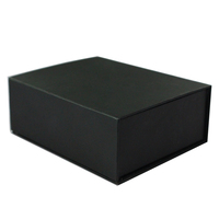 Custom black matte box clamshell packaging gift box with magnetic closure