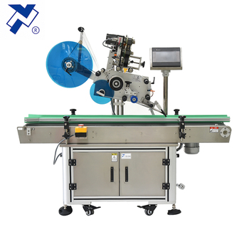 Full Auto pet Plastic/paper bag surface transparent/opaque sticker labeling machine