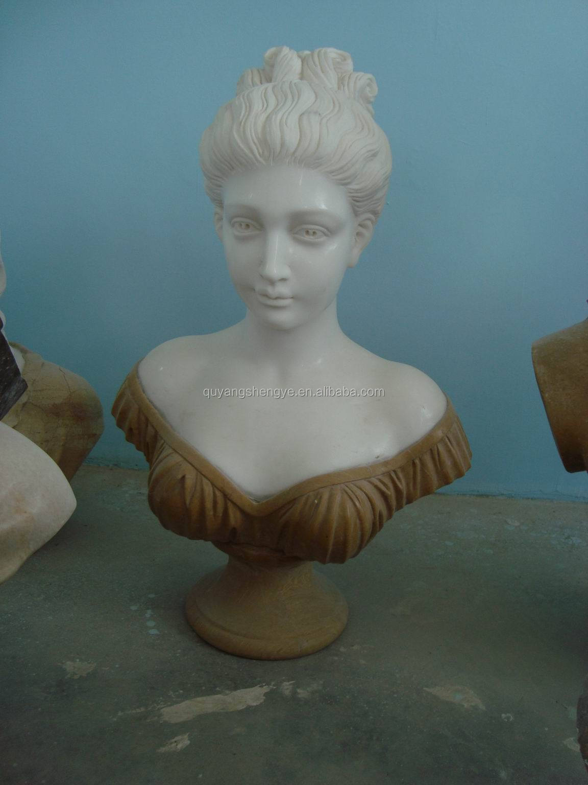 antique marble busts woman