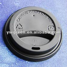 Disposable Plastic Cup Lid/ black or white PS lid/ paper cup cover