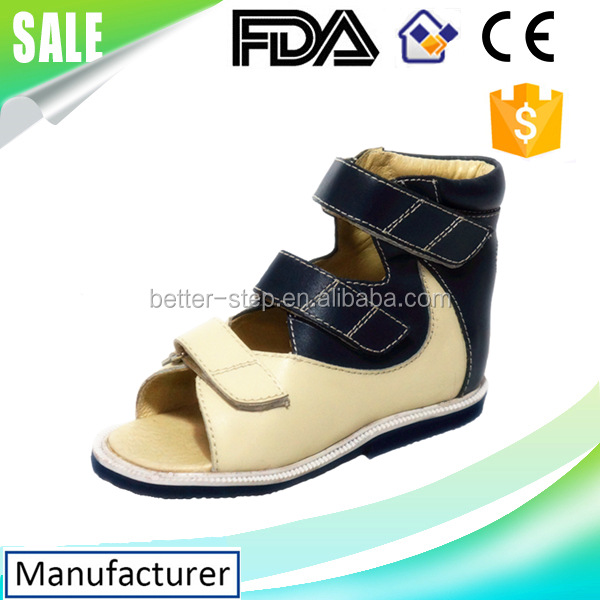 Genuines leather Medical kids orthopedic shoes,club foot shoes