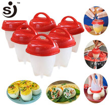Amazon Hot Selling As Seen On Tv Egglettes Egg Cooker Poacher Hard Boiled Eggs without the Shell 6 Egg Cups