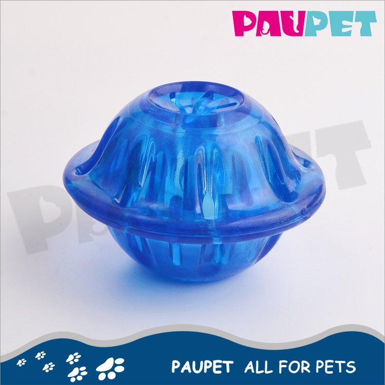 New product fashion high quality transparency TPR interactive pet treat toy