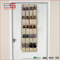non woven door hanging shoe organizer with 24 pockets selling vell in USA