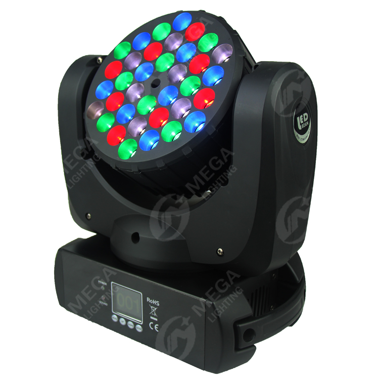 factory hot sale rgbw 36x3w colorful good quality par 64 led moving head