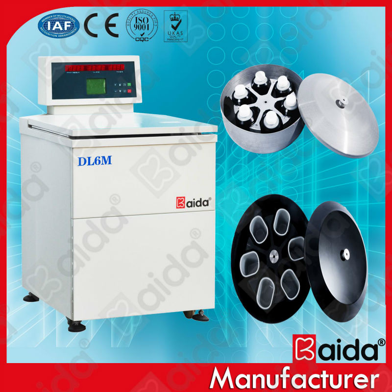 DL6M floor type low speed blood bag centrifuge with refrigerator