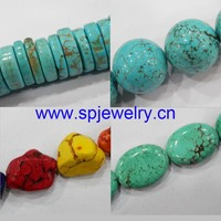 stabilized turquoise bead, round 4-20mm, 16-inch per strand