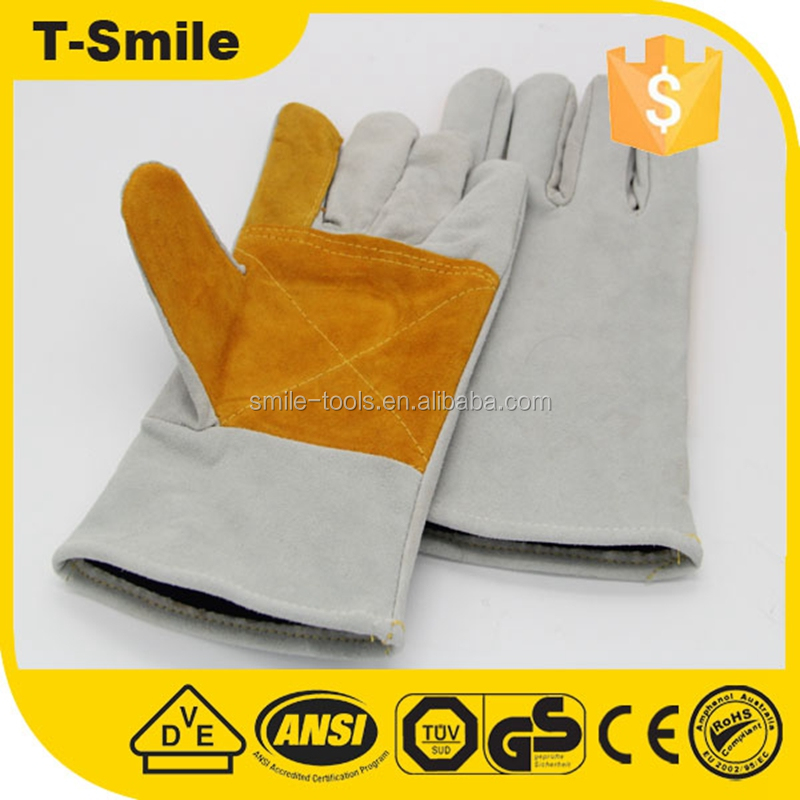 EXTREME HEAT RESISTANT pure cowhide leather Welding Gloves