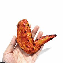 realistic fake food grilled chicken wing for decoration