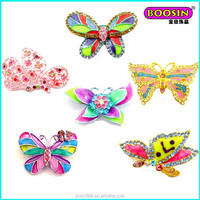 Custom promotional colorful enamel butterfly bulk rhinestone brooch from China