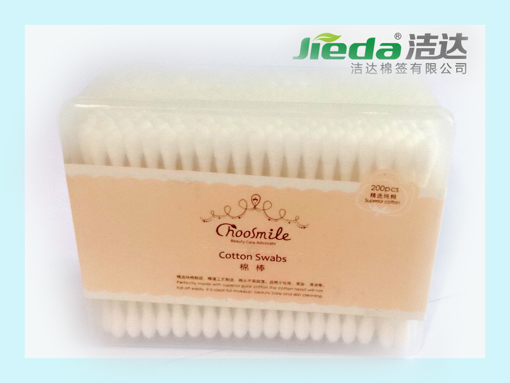 100% pure cotton beauty makeup for skin care cosmetic cotton bud