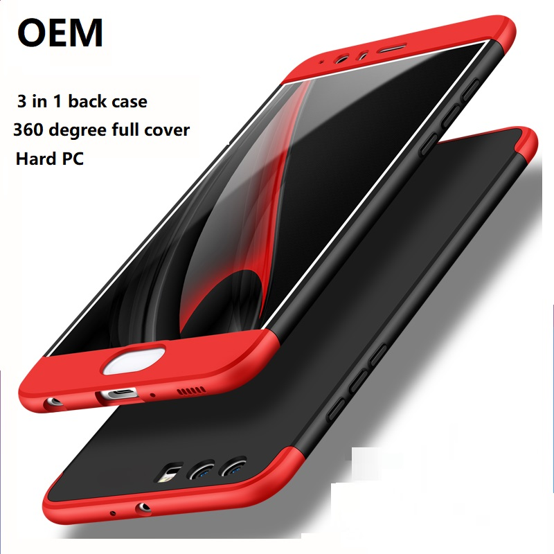 OEM 360 Degree 3 in 1 Cell Phone Cover For Huawei Honor 6X 8 9 P9 P10 Plus V9 Nova 2 Plus GR5 P8 Lite 2017 Case