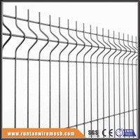 Hot dipped galvanized and pvc coated security curved 3d welded mesh panel fence