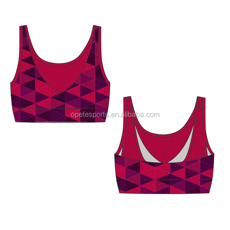 sublimation printed sports bra ladies gym wea