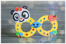 New cool fancy EVA parents child activities kids like playing DIY sunglasses toys