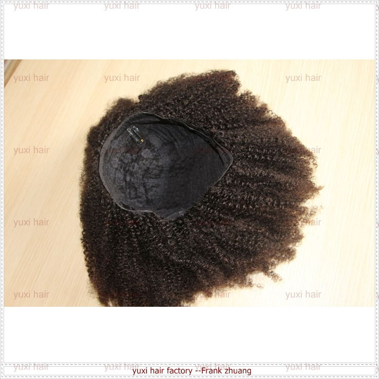 2016 Hot sales top quality afro kinky curly human hair lace front wig,afro kinky u part wig