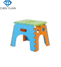children furniture portable folding step plastic stool chair Collapsible plastic foldable stool