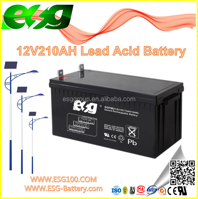 12V210AH Maintenance-Free Manufacture Lead Acid VRLA high rate AGM SLA MF Solar UPS solar long way deep cycle battery