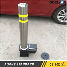 Stainless Steel Automatic Electronic Bollard Price Round red street Stainless Steel safety Bollard for sale