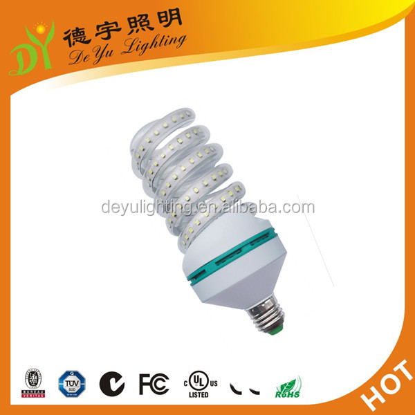 2016 hot sale energy saving lamp supplier 12w spiral led light