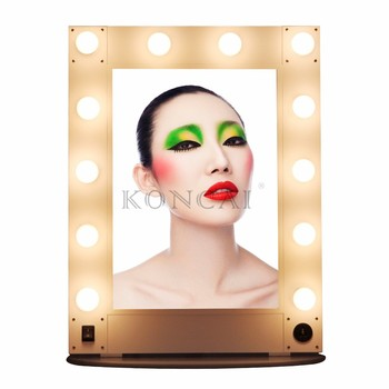 Professional LED mirror beauty salon mirror/aluminum salon lighted mirror/Aluminum Stand table mirror & Wall hang mirror