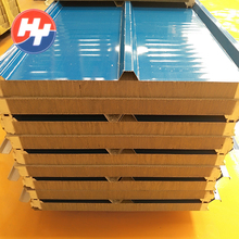 PU sealing rockwool corrugated aluminum composite sandwich roofing sheets panels