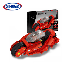 Xingbao supply ABS building block small toy motorcycles for children