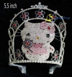 Kitty Cats Cute Pink Girl Pageant Crown