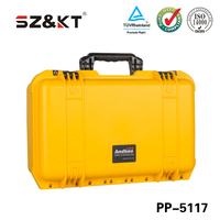 High impact PP plastic tool carrying case with foam