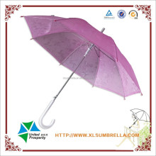 romantic pink flower rain 3D transparent umbrella