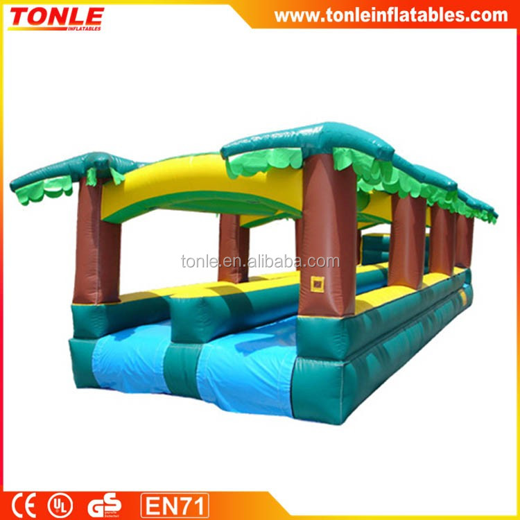 Inflatable Tropical Water Slide, Backyard Inflatable Slip Slide for Sale, Inflatable Water Park Wet Slide