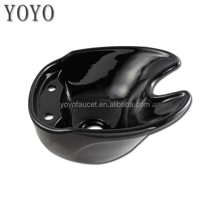 Tilting Porcelain Bowl Black color