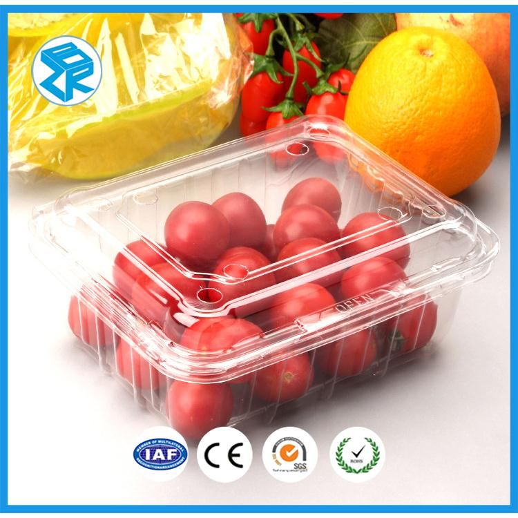 foldable plastic clamshell avocado fruit box make strong with handle lid