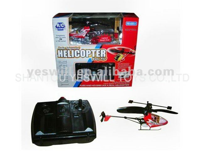 2CH radio control helicopter with gyro