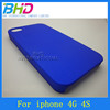 Different pure color touch smooth cover case for iphone 4S