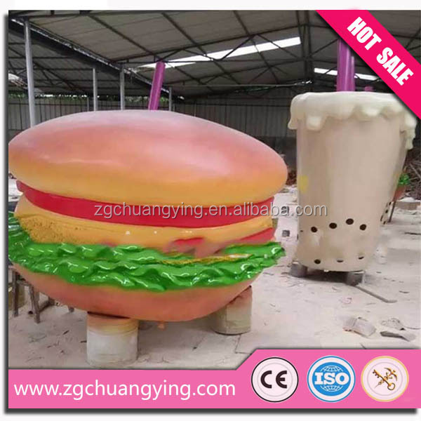 People loves the model of the hamburger statue molds