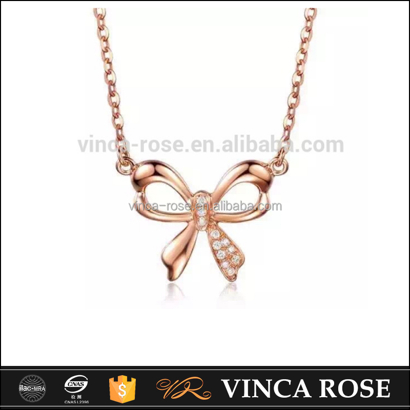 classic design bowknot butterfly 18k gold