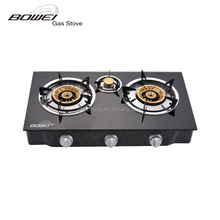 Gas stove manufacturers 3 burner gas stove glass top BW-XK304B
