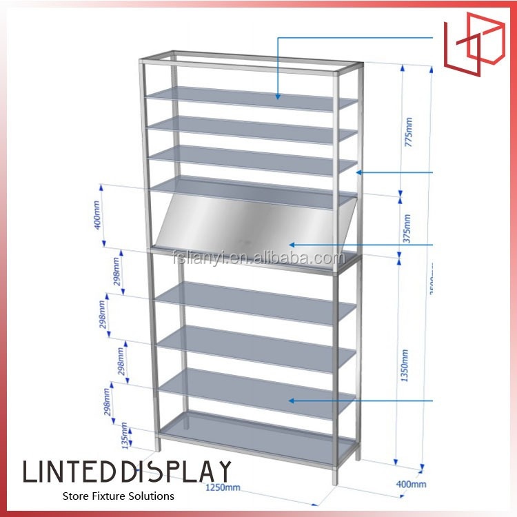 Functional wall mounted peg board display racks and cabinet for pharmacy