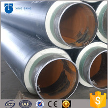 china pipeline manufacturer underground directly buried insulation pipe with black HDPE sleeve for water floor heating systems