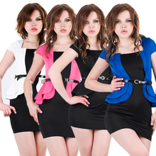 High Quality Hot Sale Short Sleeve Ladies Official Dresses